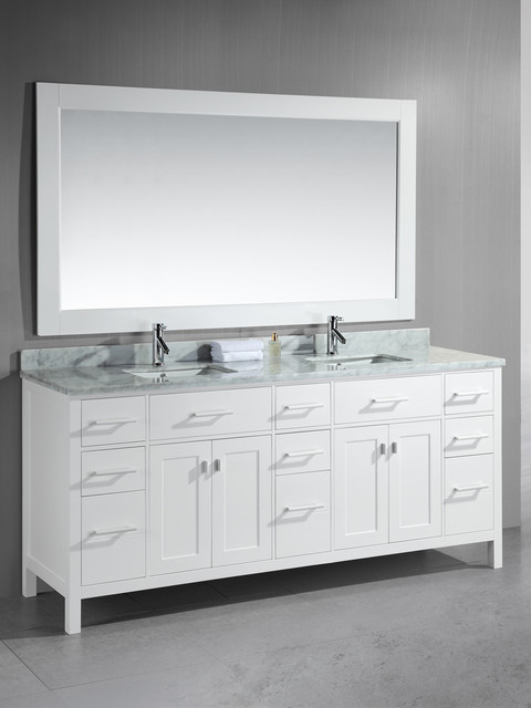 sink vanity white dec088 w modern bathroom vanities and sink