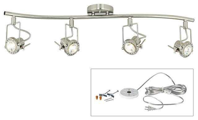 Pro Track European Style 4 Head Plug In Track Light