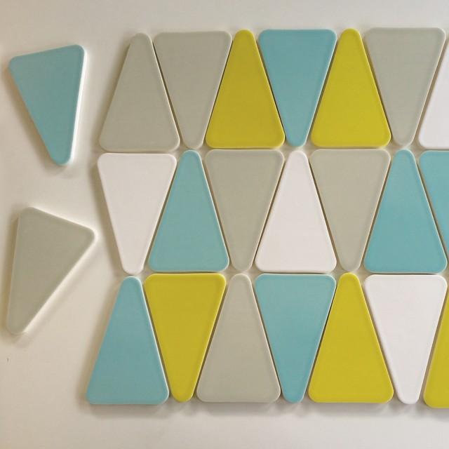 Modwalls Kiln Ceramics Wedge Midcentury Tile San