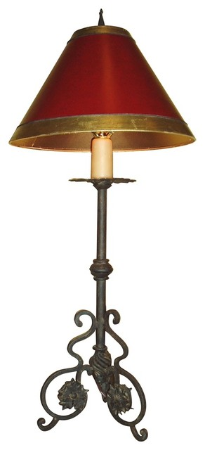 Iron Laura Lee Designs Provincia Buffet Table Lamp traditional-table-lamps