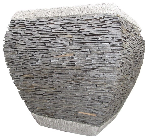 Stacked stone outdoor planters and pots traditional-outdoor-pots-and-planters