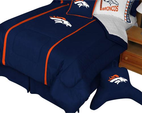Nfl Denver Broncos Twin Comforter Football Mvp Bedding