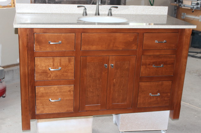 mission style bathroom cabinets custom built mission style