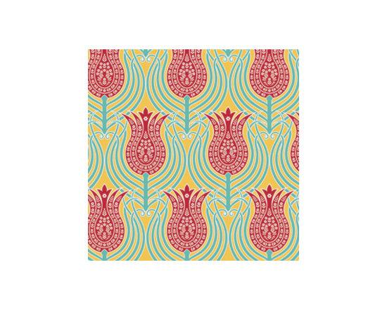 Joel Dewberry Tulips Fabric, Canary -