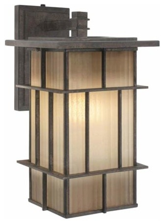 Golden Lighting 10705-L WI Large Outdoor Wall Fixture