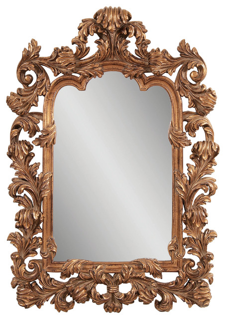 Antique Gold Ornamental Wall Mirror - Eclectic - Mirrors - by Carolina ...