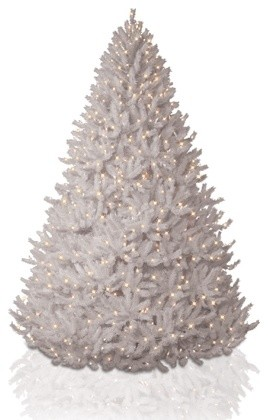 Balsam Hill Pikes Peak White Christmas Tree contemporary-christmas-trees