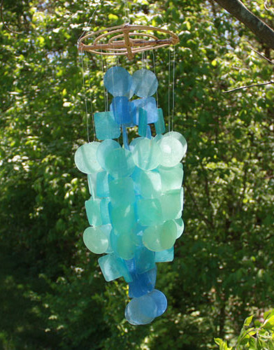 Handcrafted Capiz Shell Wind Chimes tropical-wind-chimes
