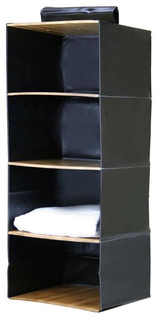Bamboo Closet Organizer, 4 Shelves contemporary-closet-organizers