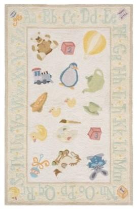 Lil' Momeni Classic Nursery Collection Kids Area Rug - Yellow modern-rugs