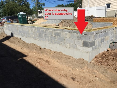 Do they cut doors after laying block foundation for Garage foundation plans