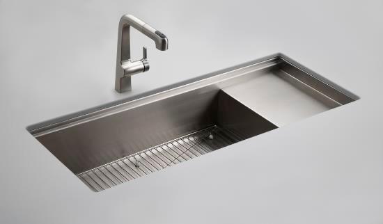 kohler k 3761 na stages 45 undermount single bowl stainless steel kitchen sink modern. Black Bedroom Furniture Sets. Home Design Ideas