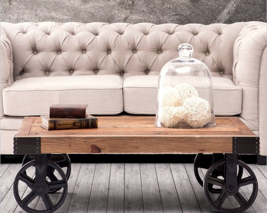 Vintage Factory Carts Double As Trendy Coffee Tables - Vintage Factory Carts Double As Trendy Coffee Tables - http://www.homethangs.com/blog/2014/07/vintage-factory-carts-double-as-trendy-coffee-tables/