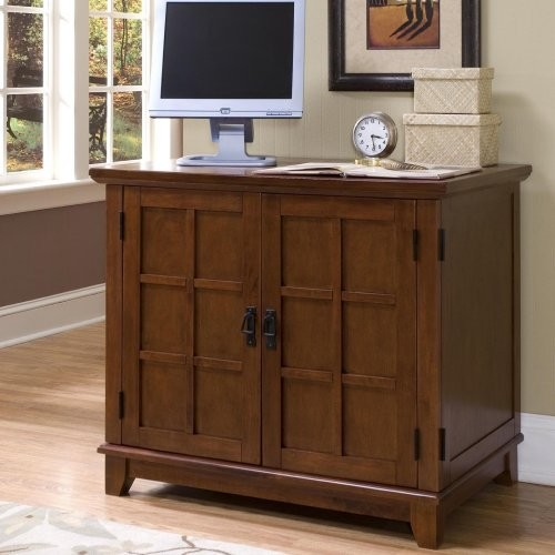 Home Styles Arts and Crafts Compact Computer Armoire - Oak - Contemporary - Storage Cabinets ...