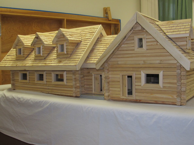 Log Home Model traditional-kids-toys-and-games