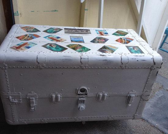 vintage steamer trunk -
