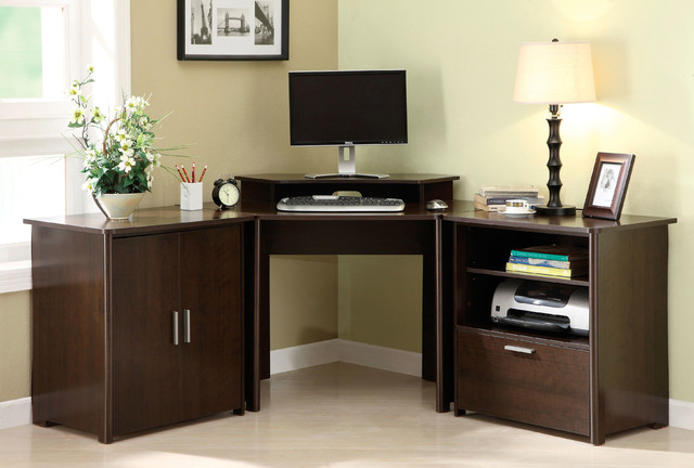 Concord Pinot Computer Desk, Storage and File Cabinet - Contemporary - Filing Cabinets - by ...