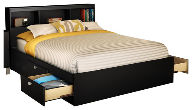 South Shore Affinato Full Mates Storage Bed Frame Only
