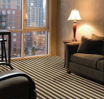 J Mish Black Tie Wool Carpet contemporary-living-room
