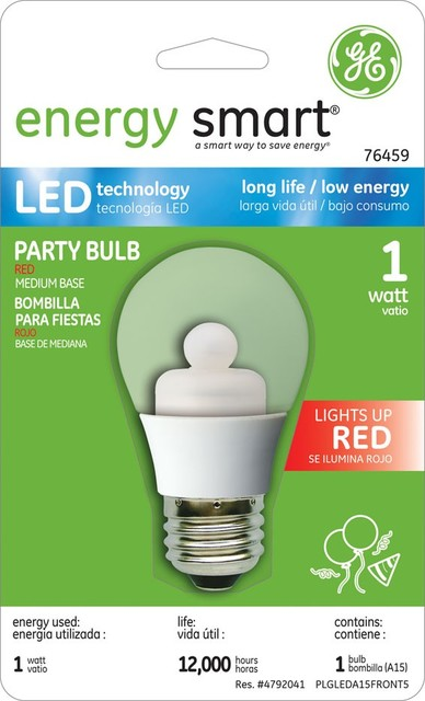 GE Energy Smart Red Color 1W A15 LED Bulb (Red, Clear) led-bulbs