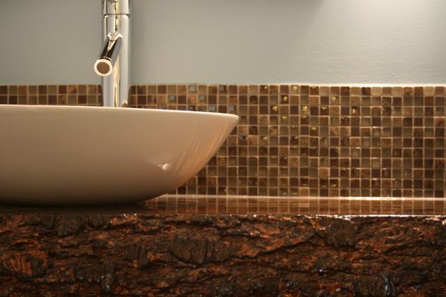 Custom Wood Top Vanity contemporary-bathroom-vanities-and-sink-consoles
