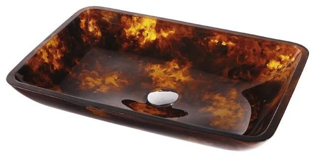 Kraus GVR-410-RE Autumn Rectangular Glass Vessel Sink modern-bathroom-sinks