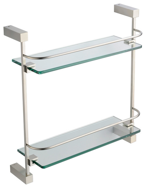Excellent This 1in X 8in Brushed Nickel Decorative Corner Shelf In Multi Color Will Add A Uniformed Look To Any Bathroom Our Varied Selection Of Bathroom Accessories Is Sure To Offer Just The Right Finishing Pieces For Your Bath Or Shower Project