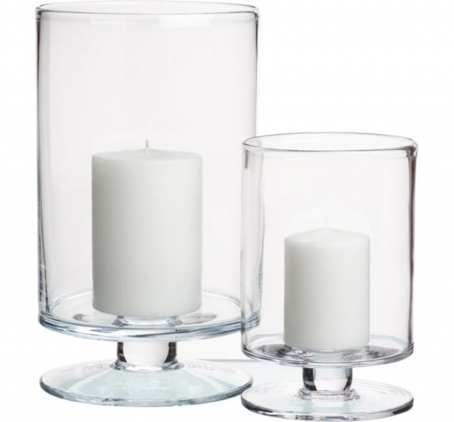 candles and candle holders by Crate&Barrel