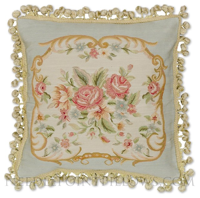 Traditional Pillows by Needlepoint Pillows