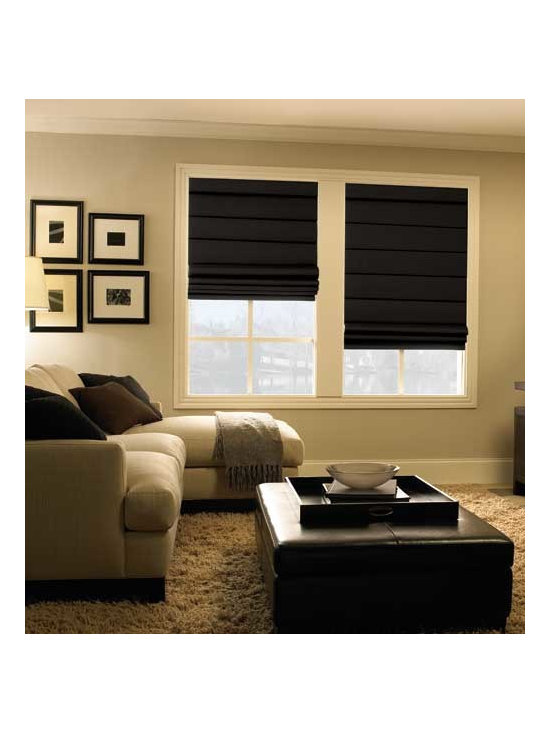 Levolor - Levolor Roman Shades: Seclusions Room Darkening - Cover your windows with the luxury and quality of Levolor roman shades.  The Seclusions room darkening collection features the look of linen fabrics with rich texturing to give your window character.