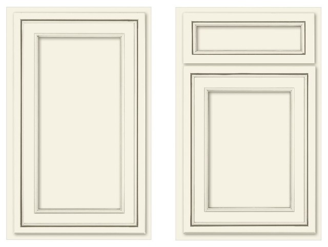 Canvas recessed panel traditional-kitchen-cabinets