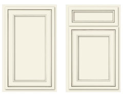 Canvas recessed panel traditional kitchen cabinets