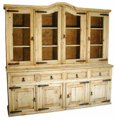 Rustic Pine Cupboard - Rustic - China Cabinets And Hutches - by Indeed Decor