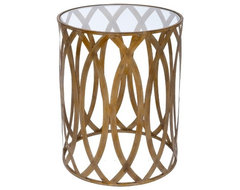 Gold Accent Barrel Table modern side tables and accent tables