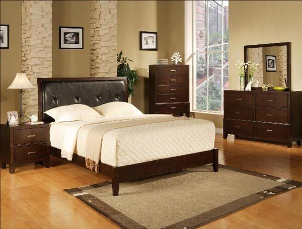 Crown mark 5 pc serena contemporary queen bedroom set w for Mark v bedroom volume