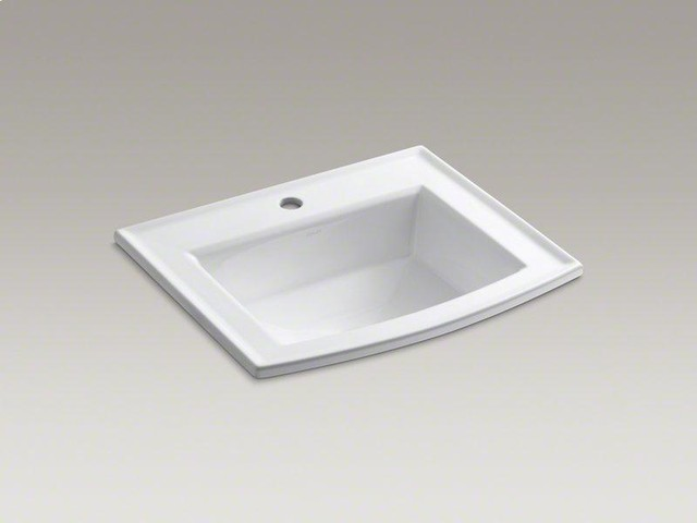 Kohler Drop In Bathroom Sink : KOHLER White Archer? Drop-in Bathroom Sink - Transitional - Bathroom ...