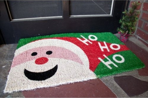 Imports Unlimited Happy Santa 18 x 30 Hand Woven Coir Doormat contemporary doormats