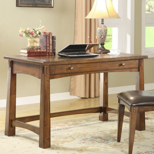 Riverside Craftsman Home Writing Desk contemporary-desks-and-hutches