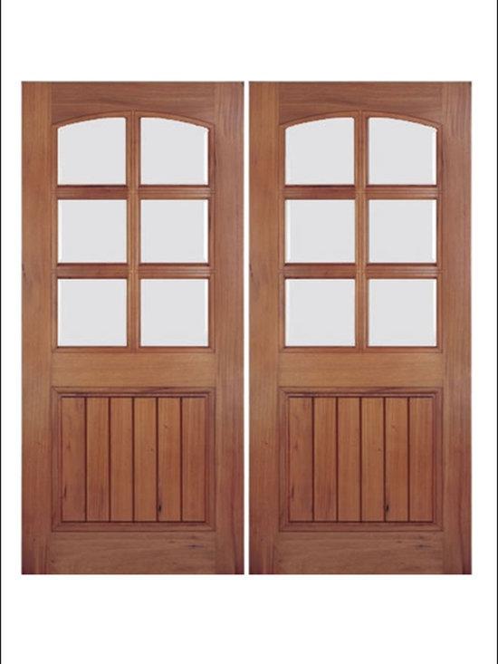 Walnut Entry Door Model # A79GP -