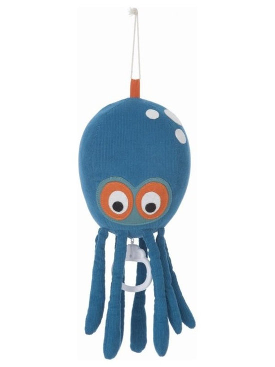 Ferm Living Organic Octopus Music Mobile - A small Octopus mobile playing Brahm's Lullaby by Ferm Living! Hang it by the bed and let the owl lull your little ones to sleep.
