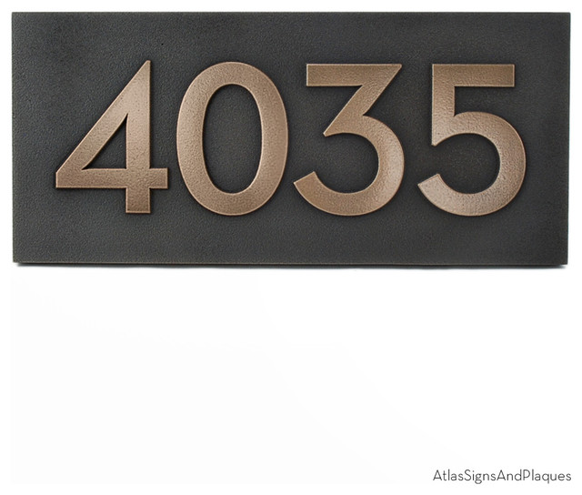 Address plaques and numbers pictures to pin on pinterest for Modern house number plaques