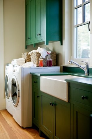 Coastal Living - Allison Ramsey Architects Holiday House beach-style-laundry-room