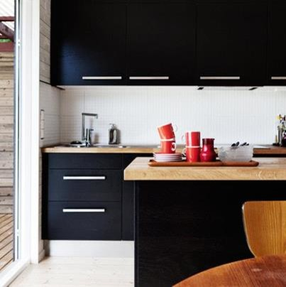 IKEA Black Brown - Contemporary - Kitchen Islands And Kitchen Carts - vancouver