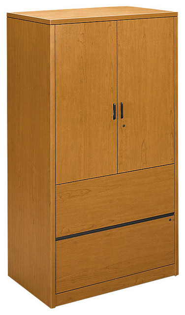 10500 Series Storage Cabinet with Lateral File - Contemporary - Filing Cabinets - by SmartFurniture