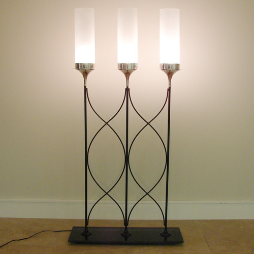 Three Frosted Glass Shades Floor Lamp - - floor lamps - miami - by ...