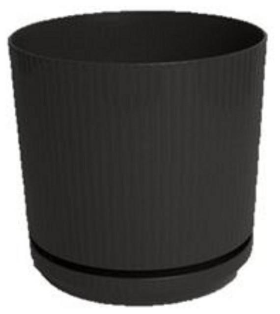 bloem 6in cetara planter black cp0600 modern outdoor pots and planters by shop chimney