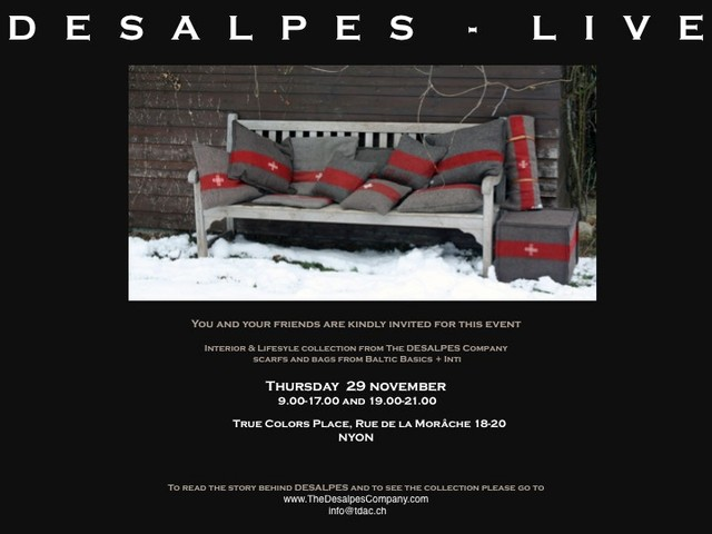 DESALPES -LIVE event pillows