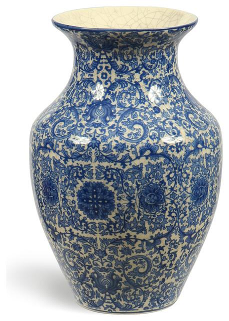 Toile De Jouy Vase Traditional Vases San Francisco