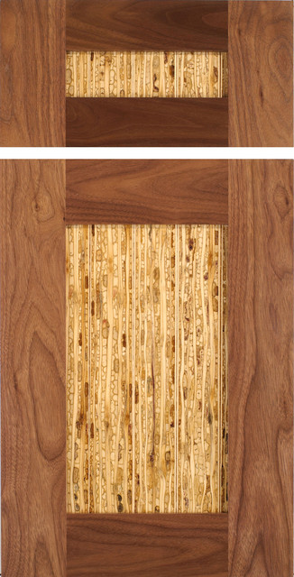 Shaker Style Cabinet Door in Walnut with Kirei Panel - Traditional - Kitchen Cabinetry - austin ...