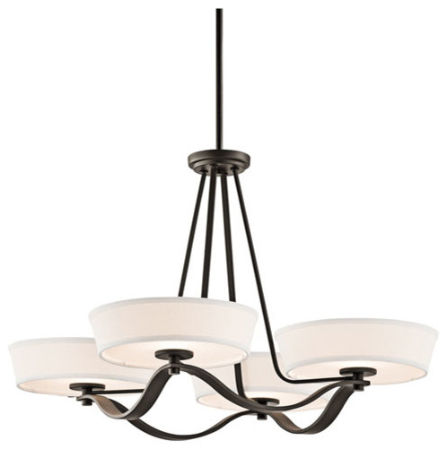 Glissade Olde Bronze Four-Light Chandelier modern-chandeliers